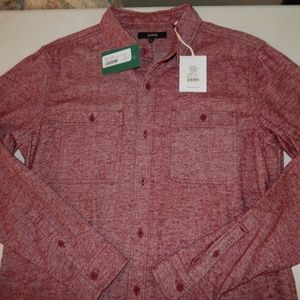 Banks Size L Stage Coach Brushed Flannel Shirt NWT